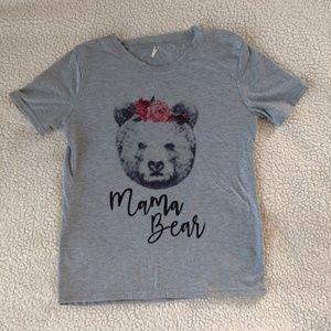 Tops - Grey Mama Bear Short Sleeve Shirt